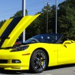 Stock Photo: Yellow Corvette