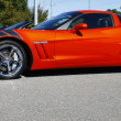 Stock Photo: Orange Grand sport Corvette