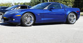 A Blue Corvette ZS1 — Stock Photo