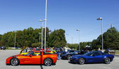 A line of Corvettes — Stock Photo