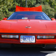 Stock Photo: Old red Corvette