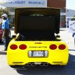 Stock Photo: Back of yellow Corvette