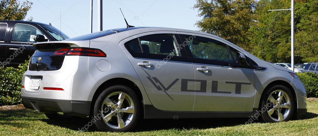 GLOUCESTER, VA- OCTOBER 13:A Chevrolet Volt at the Ken Houtz Chevrolet Buick, Camaro VS Corvette Humane Society car show and food drive in Gloucester Virginia on Oct  Stock Photo #13953115