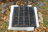 Cast iron storm drain — Stock Photo