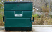 Disposal and recycling dumpster — Stock Photo