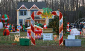 A Home decorated and lighted — Foto Stock
