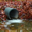 Water drainage pipe - Stock Photo