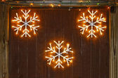Snowflake decorations — Stockfoto
