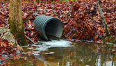 Water drainage pipe — Stock Photo