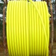 Yellow plastic conduit — Stock Photo #21467613