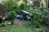 Hurricane Irene damage — Stock Photo