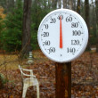 Outdoor spring thermometer — Stock Photo