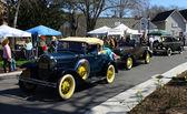 Three Antique cars — Stock Photo