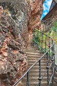 Orava castle - Stairs carved into rock — Stock Photo