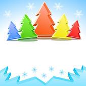 árboles de navidad coloridos de cristal — Vector de stock