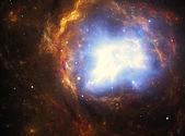 Colorful nebula created by a supernova explosion — Stock Photo
