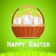Royalty-Free Stock Vector Image: Basket with Easter eggs