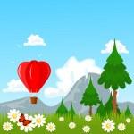 thème de nature air ballon — Vecteur