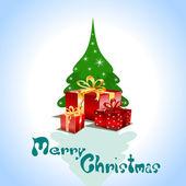 Cartão de natal. — Vetor de Stock