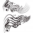 Music theme. Vector illustration. - Stock Vector
