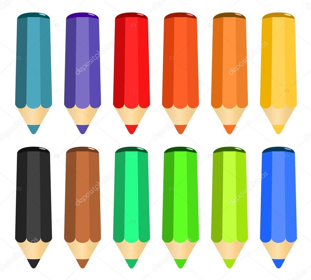 dessin anim ensemble de crayons de couleur bois image vectorielle juric p 18615707. Black Bedroom Furniture Sets. Home Design Ideas