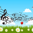 Royalty-Free Stock Vektorfiler: Vector cute bird singing