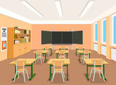Vector illustration of an empty classroom — Stock Vector