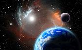 Alternative planetary system — Stock Photo