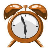 Alarm clock on the white background — Stock Vector