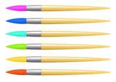 Set brosse colorée vector — Vecteur