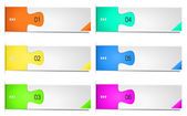 Colorful options banner template. Vector illustration — Stock Vector