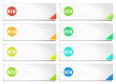 Plantilla de banner opciones coloridas. ilustración vectorial — Vector de stock