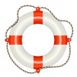 Lifesaver buoy isolated on white background — Stock Vector