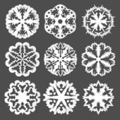 Copos de nieve de papel — Vector de stock