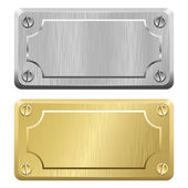 Metal Labels - Nameplates — Stock Vector