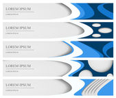 Set of five banners, can be used for web design — Stock Vector
