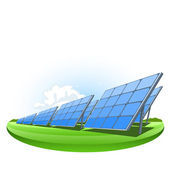 Solar panels — Stock Vector