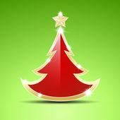 Simple glossy Christmas tree — Stock Vector