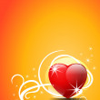 Valentine's Day vector background. — Stockvectorbeeld