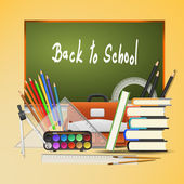 Back to school background. Vector Illustration - EPS 10 — Stok Vektör