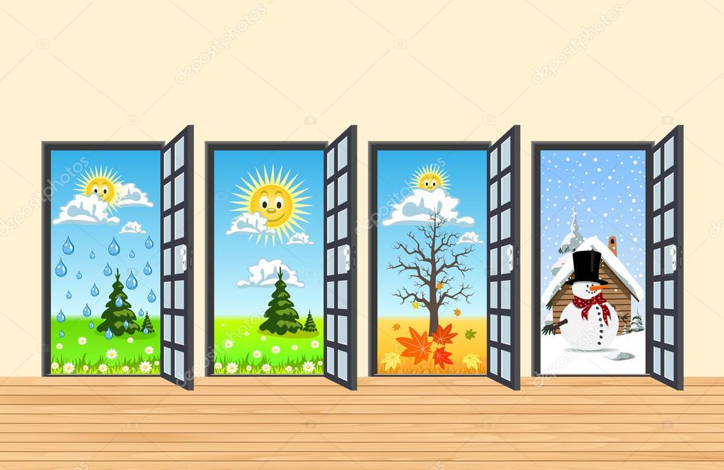 Картинки лета осенью весны