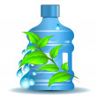 Stock Vector: Plastic bottle with clean drinking water