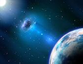 Black hole near the Earth — Stock Photo