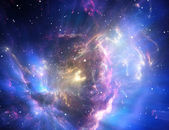 Blue space nebula — Stock Photo