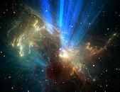Colorful space nebula — Stock Photo