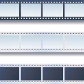 Photo - film tapes vector set  — Stock Vector