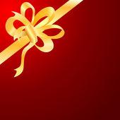 Vector gold bow, ribbon — Stock Vector