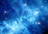Space background with nebula and stars — Stock Photo