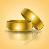 Gold wedding rings — Vettoriale Stock