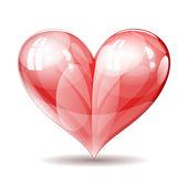 Vector shiny glossy heart illustration. — Stock Vector